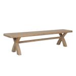 2.0m Cross Leg Dining Bench